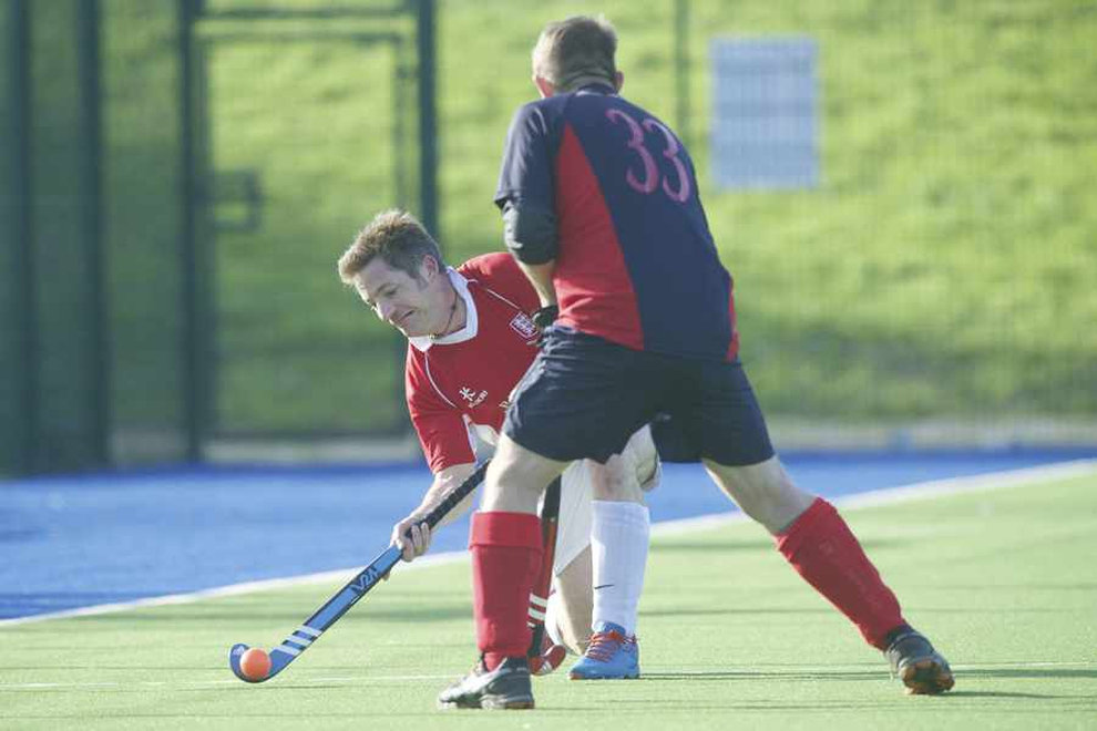 Jersey Over 50s in England Hockey Knockout Action!