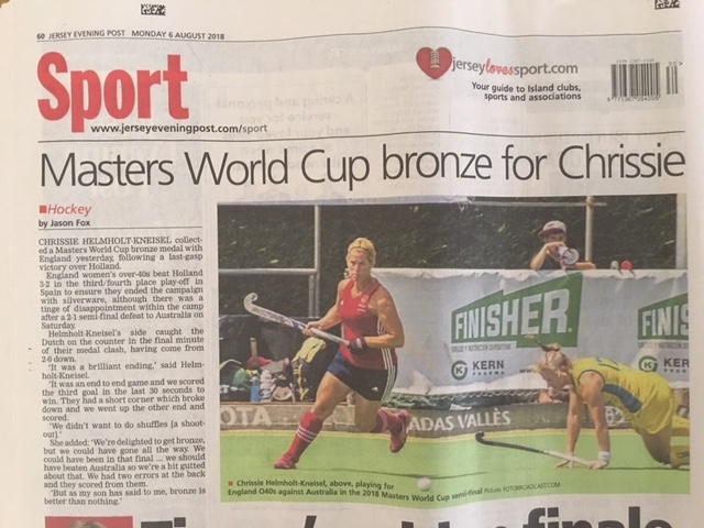 Bronze Medal for Chrissie